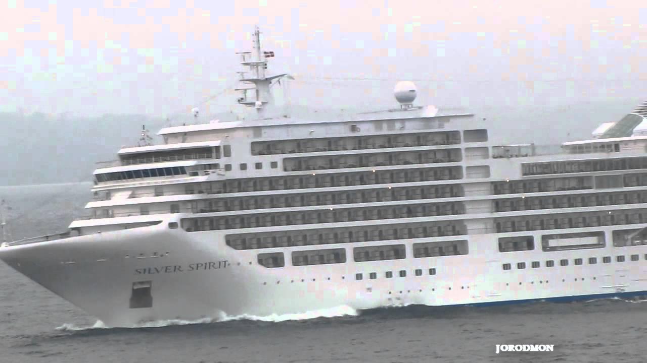 Cruise Ship Silver Spirit Leaving La Coruna Youtube