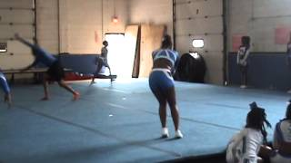Meanstreets Elite All-Star Cheer End-of-Season Gym Show Practice - April 2015