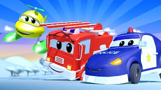 Kids car cartoon -  The Baby Car Patrol - Car City ! Cars and Trucks Cartoon for kids