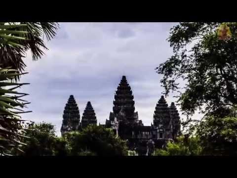 Cambodia - Angkor Wat (Time lapse - Sunrise and Sunset at Angkor Wat)