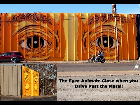 EYEZ OPEN on Broadway (Lenticular Stencil Animated Building)