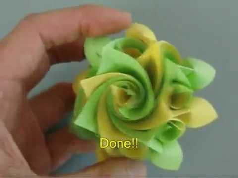 Оригами роза простые