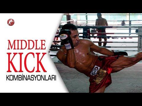 Kick Boks Teknikleri /7 Middle Kick (Orta Tekme) Kombinasyonu