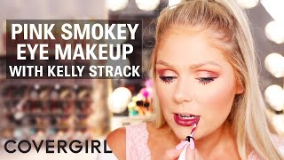 Pink Smokey Eye Makeup Look with Kelly Strack | COVERGIRL