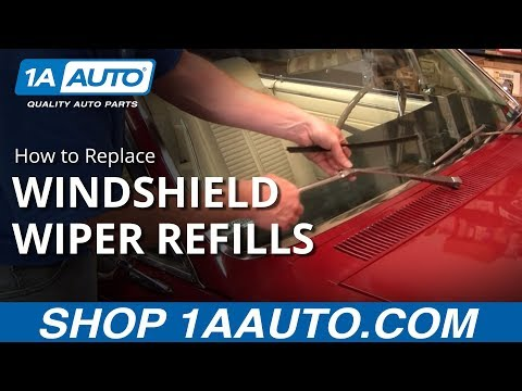 How To Replace Install Change Windshield Wiper Blades Refills 1AAuto.com