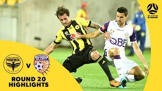 Hyundai A-League 2017/18 Round 20: Wellington Phoenix 2 - 1 Perth Glory