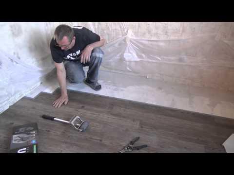 монтаж пола из винилового ламината