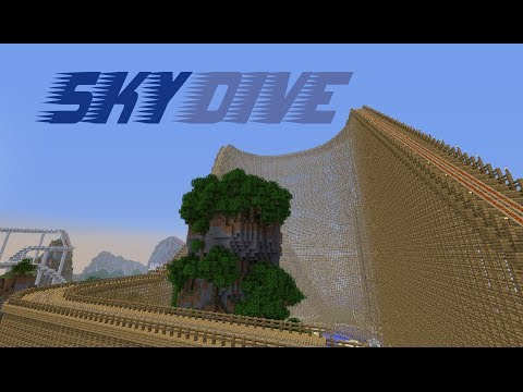 SkyDive - A huge wooden roller coaster in Minecraft [HD]