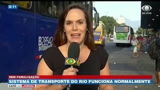 RJ: sistema de transporte funciona normalmente
