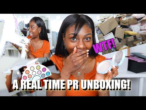 WHAT HAPPENED TO MY PR!? FULL UNBOXING & FIRST IMPRESSIONS  OF NEW MAKEUP