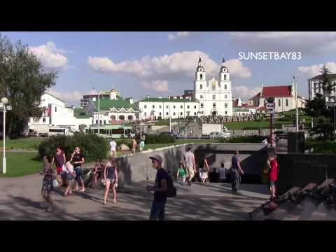 Minsk, Belarus - August 2013 - Short tour of the city