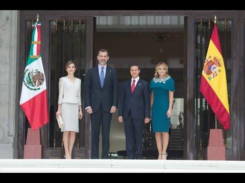 Visita de Estado a México de los Reyes de España, Felipe VI y Letizia: Ceremonia de Bienvenida