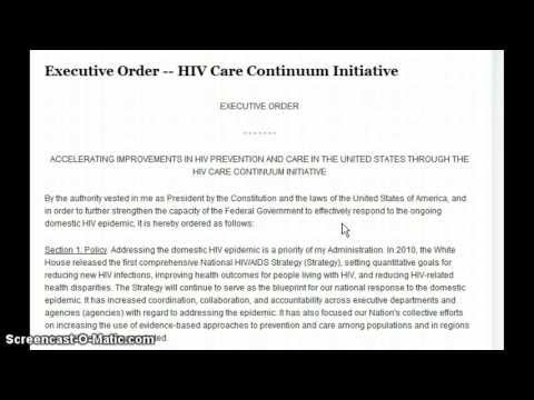 Obama Quietly Signs Executive Order!  Pushing HIV Testing on People Ages 15 to 65!