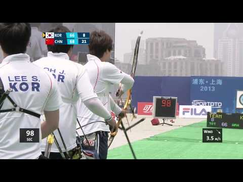 Recurve Men Team Gold - Shanghai - Archery World Cup 2013