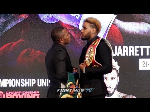 JARRETT HURD STARES DOWN ERISLANDY LARA DURING FIRST FULL FACE OFF IN NEW YORK!