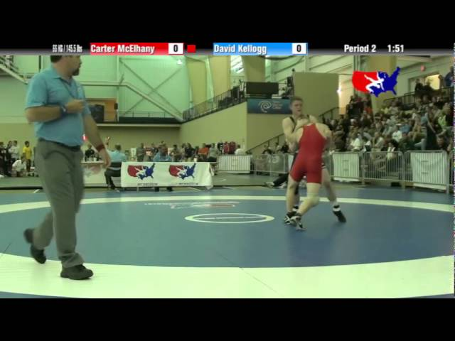University Nat`ls FS  66 KG / 145.5 lbs: Carter McElhany vs. David Kellogg