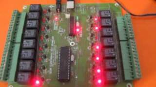 usb port pic18f2550 15 kanal animasyon.wmv