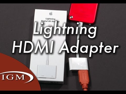 Lightning to HDMI / Digital AV Adapter