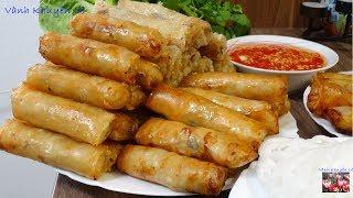 Chả Giò - Bí quyết làm Chả Giò Bánh Tráng Việt Nam - Vietnamese Springrolls giòn rụm by Vanh Khuyen