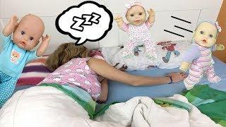 24 horas siendo papás y mamá de gemelos con muñecas bebés Nenuco Lola y hermanitas Peppa y Elsa