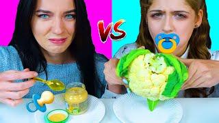 ASMR BABY FOOD VS ADULT FOOD CHALLENGE EATING SOUNDS LILIBU