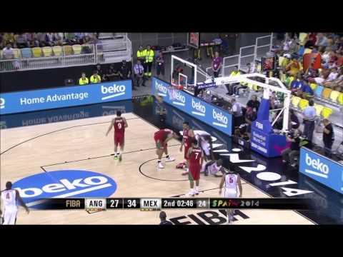 Mundial Basketball Mexico vs Angola partido completo 02 09 2014