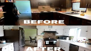EXTREME BUDGET FRIENDLY KITCHEN MAKEOVER... FROM DRAB TO FAB
