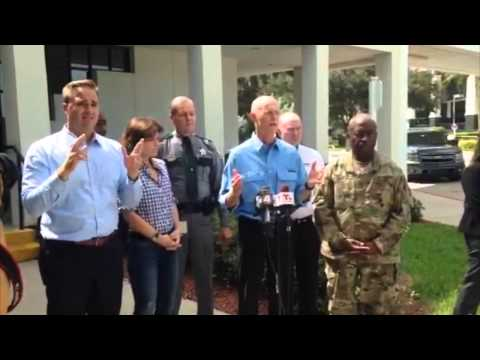 Gov. Rick Scott with update on tropical cyclone Erika