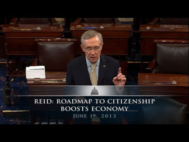 Reid: Roadmap to Citizenship Boosts Economy