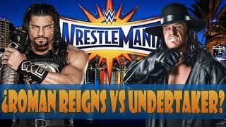 Wwe Wrestlemania 33 - The Undertaker vs Roman Reigns || Full Match Hd