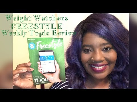 Weight Watchers FREESTYLE • Weekly Topic Review - Your toolkit