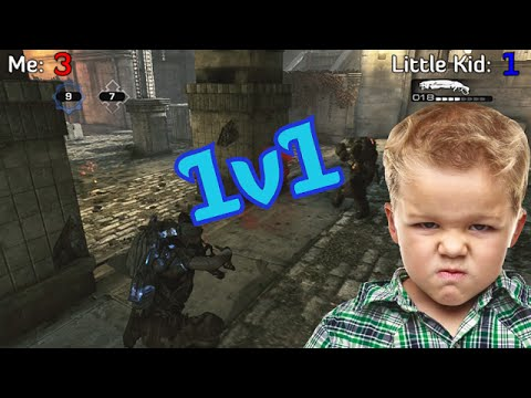 1v1 vs An Angry Little Kid on Gears of War 3