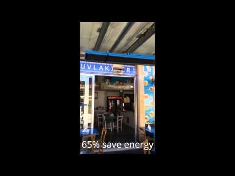 Blue style Greek tavern heating solution