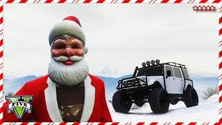 GTA 5 SANTA Goes OFF-ROADING | 12 Days of Christmas | GTA V First Person Mini Games Funny Moments
