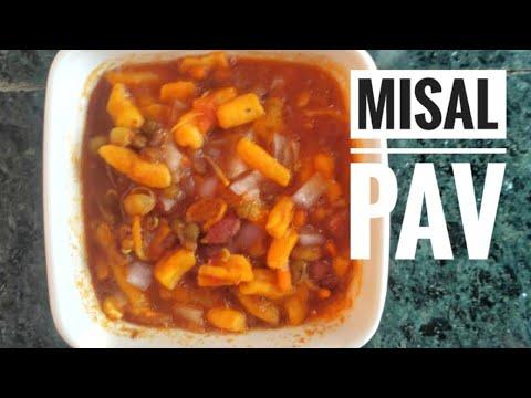Missal pav,, street food,,misal pav