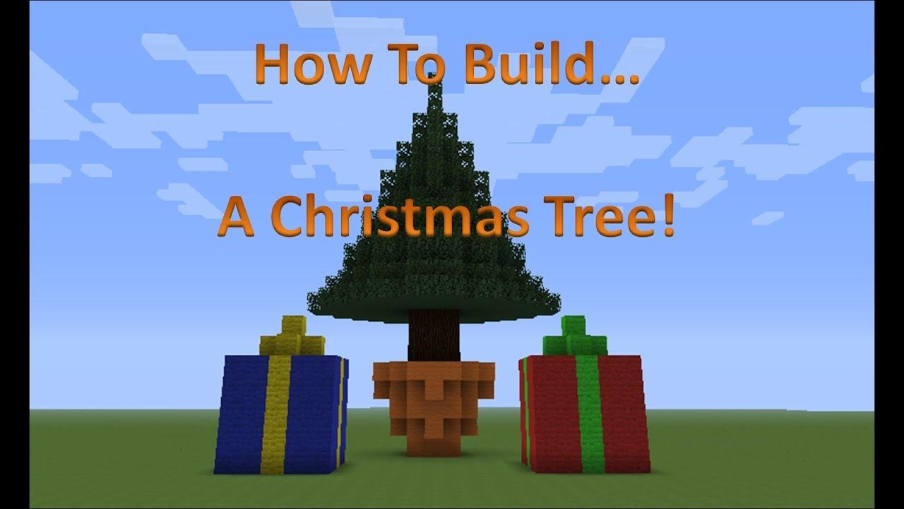 Minecraft christmas tree timelapse - YouTube