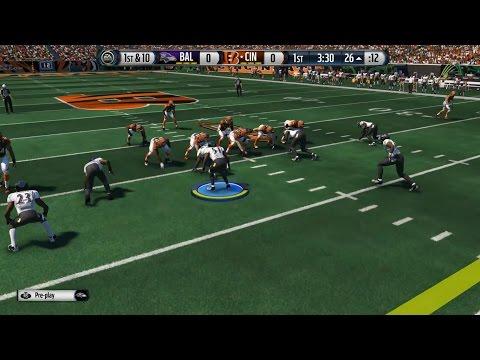 Madden 15 Gameplay l Defensive Camera l Ravens vs Bengals