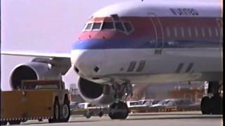 United Douglas DC-8-71 Pushback and Taxi