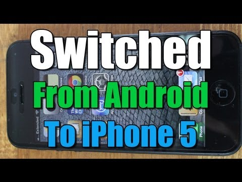 Switched from Android to iPhone 5