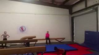 Simone Biles - Double Double beam dismount (old video)