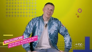"""Macklemore Records """"Marmalade"""" On Election Night"""