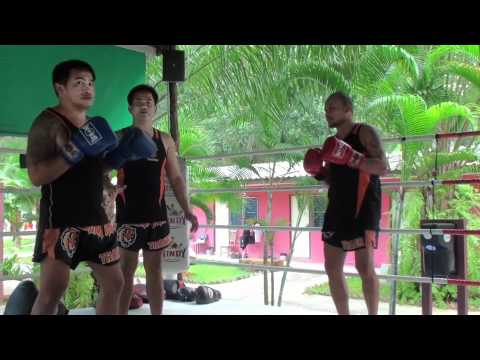 Tiger Muay Thai techniques: Block kick respond punch or kick Image 1