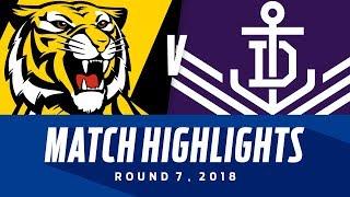 Match Highlights: Richmond v Fremantle   Round 7, 2018   AFL