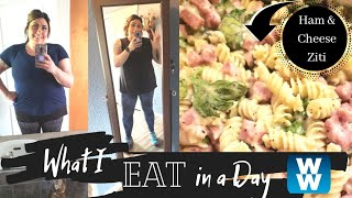 WHAT I EAT IN A DAY TO LOSE WEIGHT ON MYWW | HAM & CHEESE PASTA | 2 HAULS | WEIGHT WATCHERS!