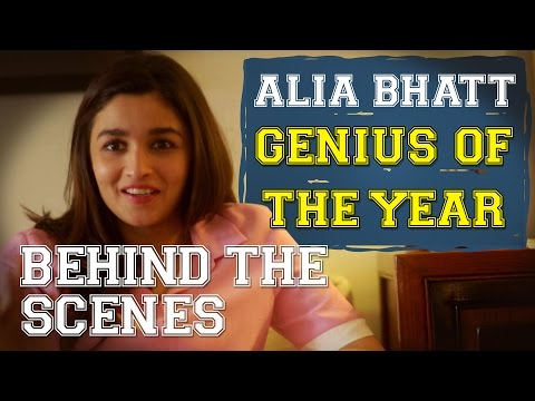 Behind The Scenes : Alia Bhatt - Genius Of The Year