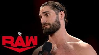 Seth Rollins sends a message to Triple H: Raw Exclusive, Nov. 11, 2019