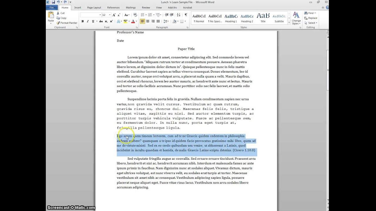Poem in essay mla
