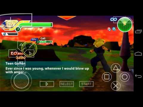 Dragon Ball Z: Tenkaichi Tag Team (gohan Vs Cell) Ppsspp Emulatr video