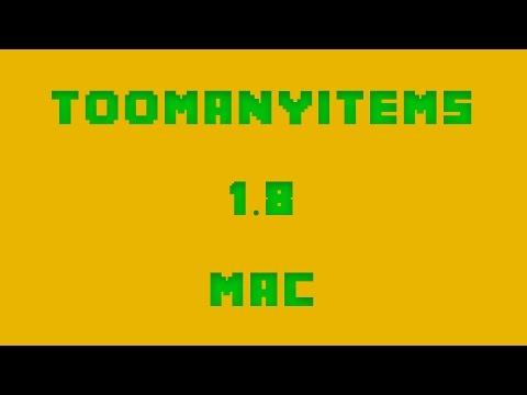 How to Install TooManyItems for Minecraft 1.8 [Mac]