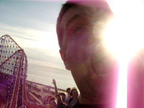 Blackpool PEPSI MAX rollercoaster after a big joint